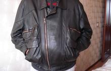 Продам кожаную куртку темно-коричневого цвета