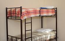 Кровати односпальные, двухъярусные металлические (на металлокаркасе)