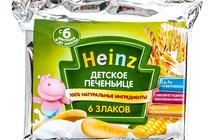 Печенье Heinz Детское 6 злаков, 60 гр, 1 шт