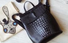 Рюкзак кожаный женский черный