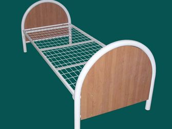 Новое foto Мебель для спальни Кровати металлические дешево для рабочих 12921367 в Москве