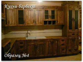 Уникальное изображение Кухонная мебель Кухни из массива дерева под старину (состаренная мебель) 21994914 в Москве
