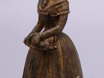 Уникальное foto  Колокольчик для прислуги Дама, Европа, 19 век 32470046 в Москве
