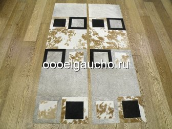 Просмотреть фото Ковры, ковровые покрытия Прикроватные коврики из шкур коров 32884028 в Москве
