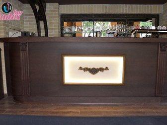 Просмотреть фото Производство мебели на заказ Стойка барная из массива и шпона дуба 33316835 в Москве