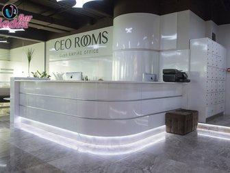 Смотреть фотографию Офисная мебель Стойка администратора из нержавеющей стали и итальянского пластика 33316865 в Москве
