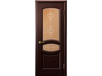 Увидеть foto  Межкомнатная дверь фабрики LUXOR, Анастасия, венге, ПО, стекло бронзовое, 33540476 в Москве