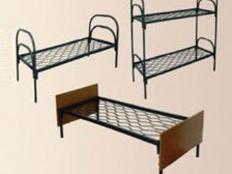 Увидеть фотографию  Кровати металлические двухьярусная, для больниц, металлические кровати с ДСП спинками, кровати для бытовок, кровати оптом, От производителя, 34084745 в Москве
