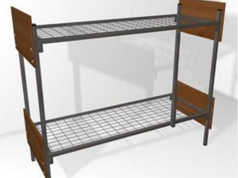 Свежее изображение Мебель для спальни Кровати металлические двухьярусная, для больниц, металлические кровати с ДСП спинками, кровати для бытовок, кровати оптом, От производителя, 34084754 в Ижевске