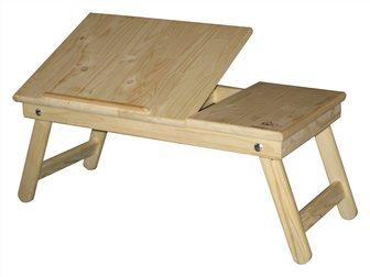 Увидеть фото Комплектующие для компьютеров, ноутбуков Подставка для ноутбука и завтрака в кровать из натурального дерева 34428013 в Москве