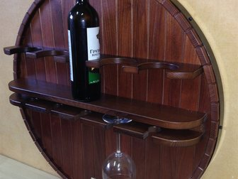 Уникальное изображение  «Полка навесная для хранения вина» – интерьерная «изюминка» от МК ALDO (Москва), 34458869 в Астрахани