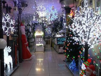 Свежее фото  Новогодние гирлянды, светящиеся фигуры и панно, световое оформление, дизайн и монтаж 37609177 в Ижевске