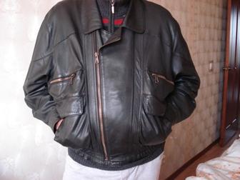 Уникальное фото Мужская одежда Продам кожаную куртку темно-коричневого цвета 37804594 в Москве