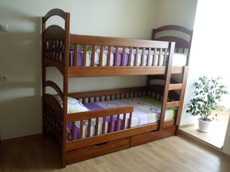 Скачать изображение  Двухъярусная кровать Дарина из дерева, разборная 38653103 в Москве
