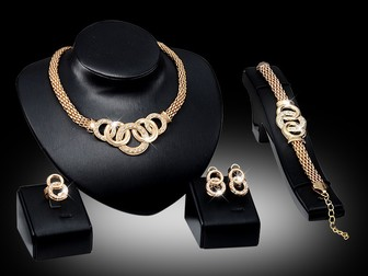Свежее фото  Ювелирный набор, Ожерелье 39262397 в Липецке