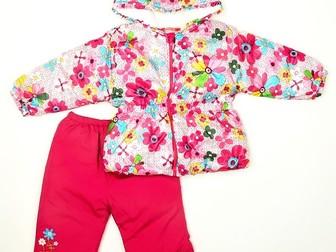 Новое foto  Костюм утепл розовый с ромашками 7-12 мес 3 пр, Одежда малышам, 39801986 в Москве
