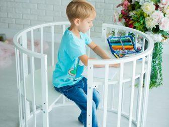 Новое фото  Детская круглая кроватка -трансформер 5 в 1! 40640393 в Москве