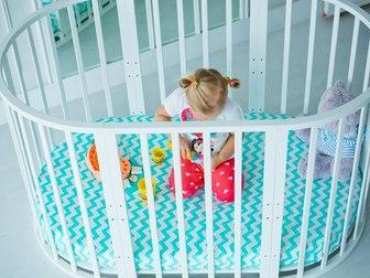 Скачать фотографию  Детская круглая кроватка -трансформер 5 в 1! 40640393 в Москве