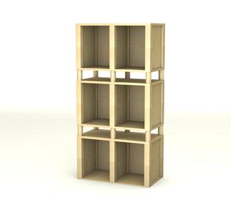 Фото в Мебель и интерьер Мебель для гостиной Стеллажи мебельного конструктора Д-Тек станут в Москве 2296
