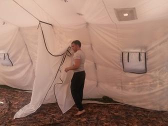 Свежее фото Товары для туризма и отдыха Армейская палатка Берег-30М2 6, 75м*6, 0 м*3, 0, (2х слойная) 30890098 в Мурманске