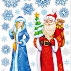 Дед мороз и снегурочка к детям