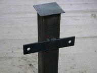 столбы металлические с планками и заглушками Столбы металлические с планками и з