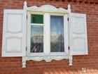Ставни деревянные с наличниками на окна для дома и