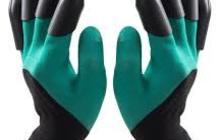 Перчатки рабочие нейлоновые (пластмассовые когти)