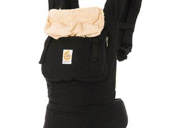 Новое foto Детская мебель Эрго рюкзак (слинг рюкзак) черный с бежевым капюшоном 33271338 в Новосибирске