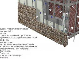 Увидеть foto Разные услуги Монтаж вентилируемого фасада от 500 руб/м2 34234835 в Новосибирске