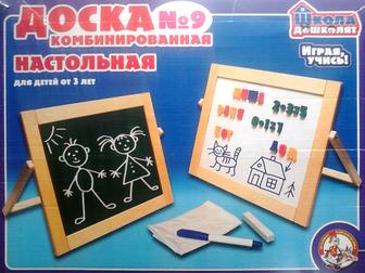 Скачать бесплатно foto Детские игрушки Доска комбинированная настольная №9 детская 37015900 в Новосибирске