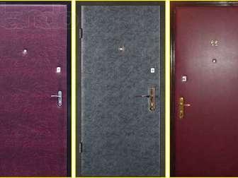 Скачать фото  Обивка обшивка оклейка металических дверей дермантином (винилискожей) 37699140 в Новосибирске