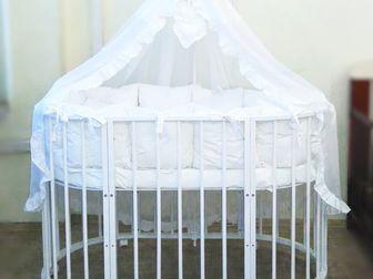 Уникальное изображение Детская мебель Кроватка круглая «Облако» 6 в 1 67886988 в Новосибирске