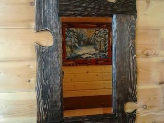 Уникальное изображение  Деревянные рамки ручной работы для зеркал и картин на заказ 68339664 в Новосибирске