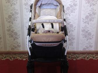 Срочно!  Продам коляску Farfello Fortuna 3 в 1,  В наличии сумка, сетка, дождевик,  клеёнка на коляску, Очень удобная, компактная в сложенном виде,  Удобный материал в Новосибирске