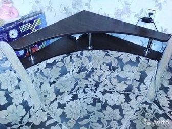 Угловой диван, б/у,  245х255, спальное место 125х196,  Пружины,  Торг уместен,  Самовывоз, в Новосибирске