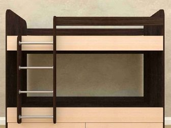 Кровать в идеальном состоянии,  Спальное место 700х1800, Габариты ВxШxГ:1600x1830x730 мм, Два матраца в ПОДАРОК ?? в Новосибирске