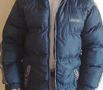 Изображение в Одежда и обувь, аксессуары Мужская одежда Пуховик, цвет тёмно-синий. В хорошем состоянии. в Новосибирске 2000
