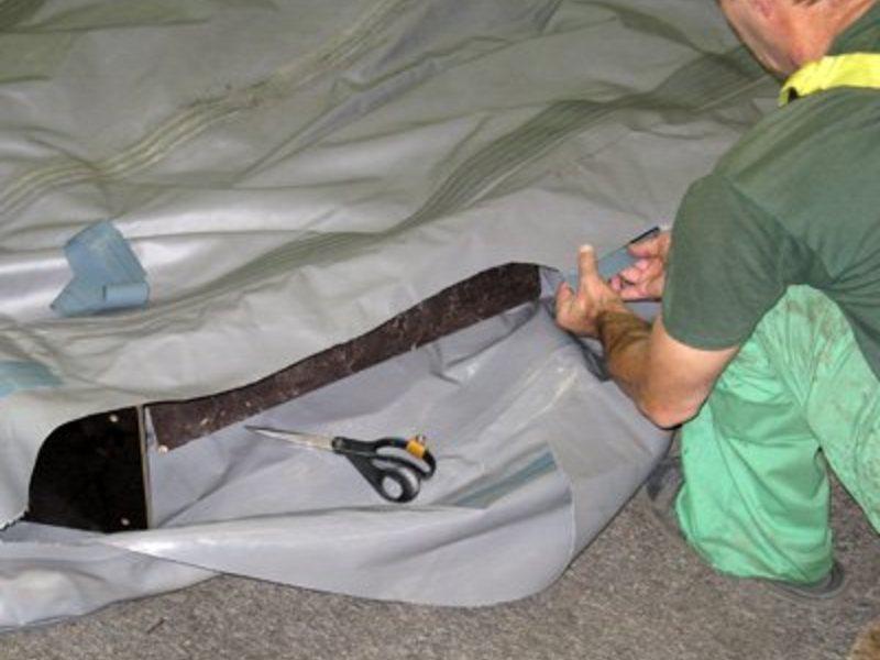 Ремонт днища надувной лодки своими руками 66