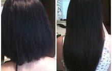 Кератиновое выпрямление Researsh, Наращивание волос