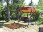 Фотография в Строительство и ремонт Строительные материалы Садовые, разборные качели с козырьком из в Озеры 13300