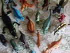 Динозавры, животные, жуки (резиновые)