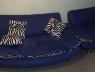 Продам диван и кресло Продам в хорошем состоянии синий диван и кресло за 10000 ,