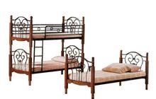 2-х ярусная кованная кровать АТ 608 раскладная