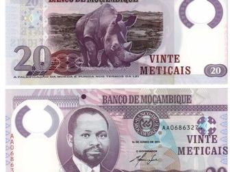 Просмотреть фото Коллекционирование Банкнота Мозамбик - 20 метикалов 2011 года Полимерная 51463146 в Перми
