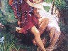 Фото в Хобби и увлечения Разное Вышитая картина «Влюбленные на качелях», в Рязани 35000