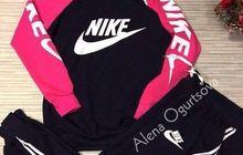 Cпортивный костюм NK с розовыми рукавами