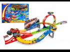 Свежее фото Детские игрушки Вспыш Большой Гоночный трек (оптом) + 4 машинки 37728368 в Санкт-Петербурге