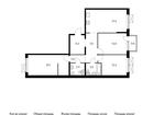Продаётся 3-комн. квартира площадью 91,2 кв.м на 2 этаже 9 э
