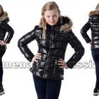 Зимняя подростковая куртка на пуху Гламур, Черная и Белая